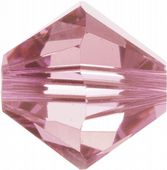 6mm SWAROVSKI® ELEMENTS Light Rose Xilion Beads - 25 crystals for jewellery making, beadwork and craft